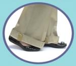 Rešitev za težave s predolgimi hlačnicami